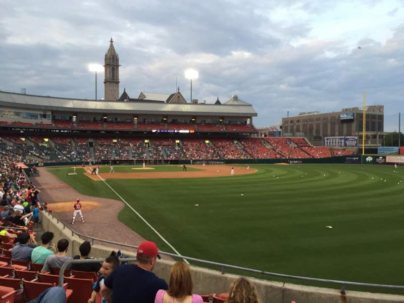 Seating view for Coca-Cola Field Section 128 Row Q Seat 7