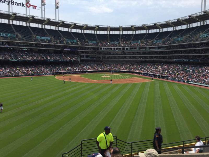 Seating view for Progressive Field Section 184 Row J Seat 8