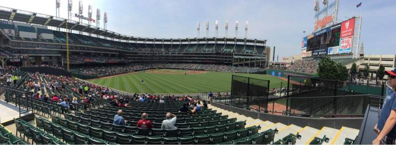 Seating view for Progressive Field Section 108