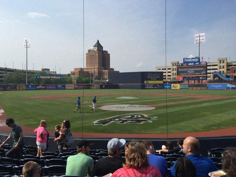 Seating view for Canal Park Section 13 Row J Seat 8
