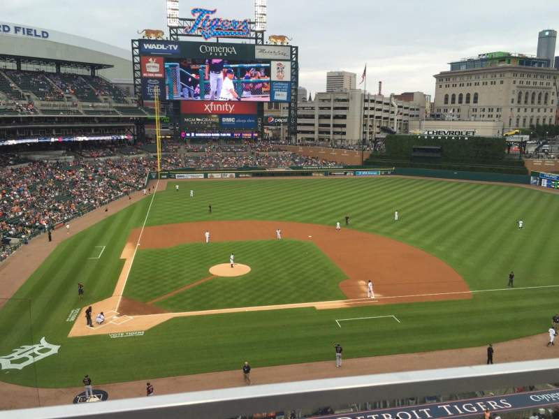 Seating view for Comerica Park Section 323 Row A Seat 12