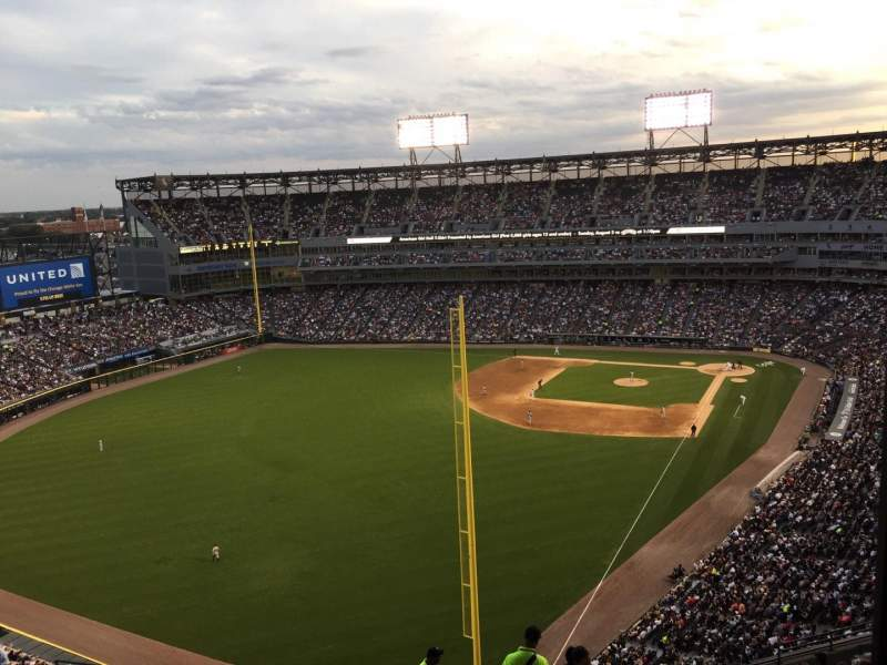 Seating view for Guaranteed Rate Field Section 557 Row 17 Seat 1