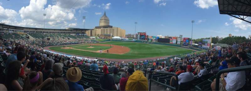 Seating view for Frontier Field Section 204 Row M Seat 12