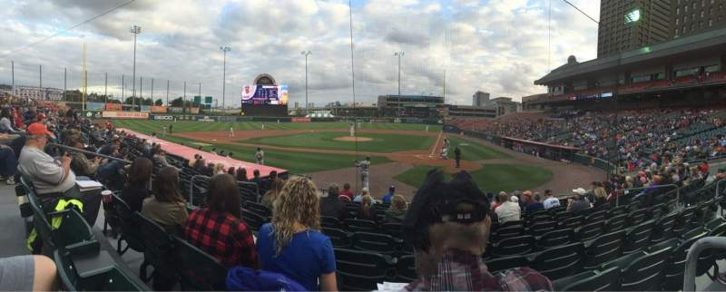 Seating view for Coca-Cola Field Section 105 Row K Seat 8
