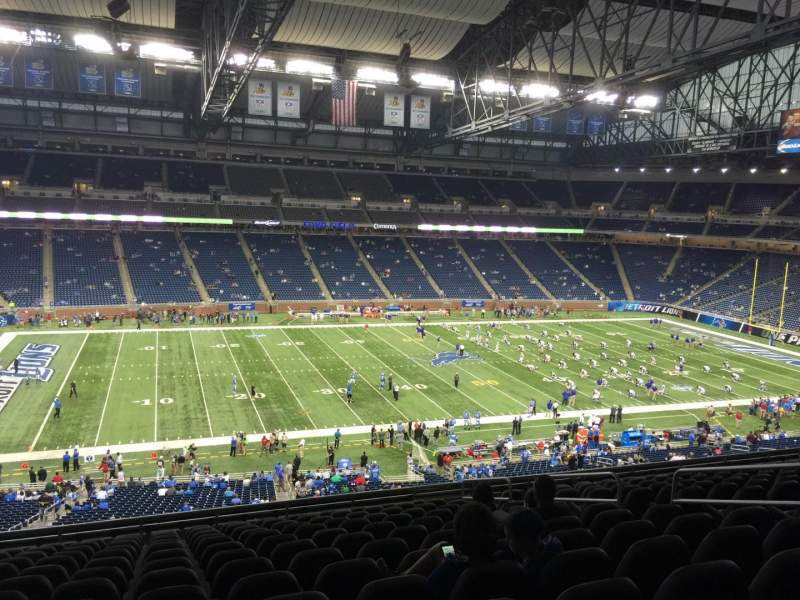 Seating view for Ford Field Section 204 Row 14 Seat 10