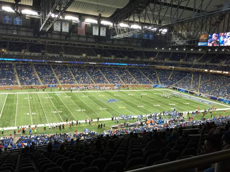 Seating view for Ford Field Section 204 Row 17 Seat 3