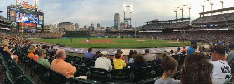 Seating view for Comerica Park Section 134 Row 12 Seat 3