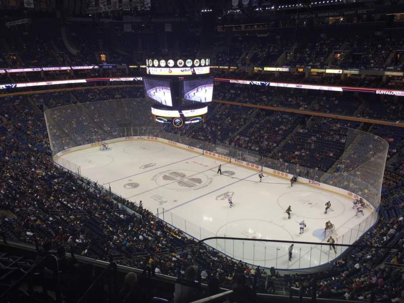 Seating view for KeyBank Center Section 303 Row 8 Seat 1