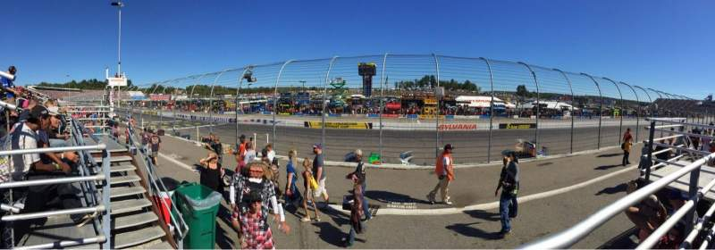 Seating view for New Hampshire Motor Speedway Section SC Row 1 Seat 8