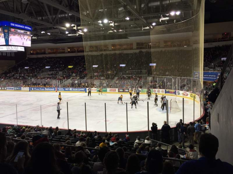 Seating view for Erie Insurance Arena Section 207 Row Q Seat 1