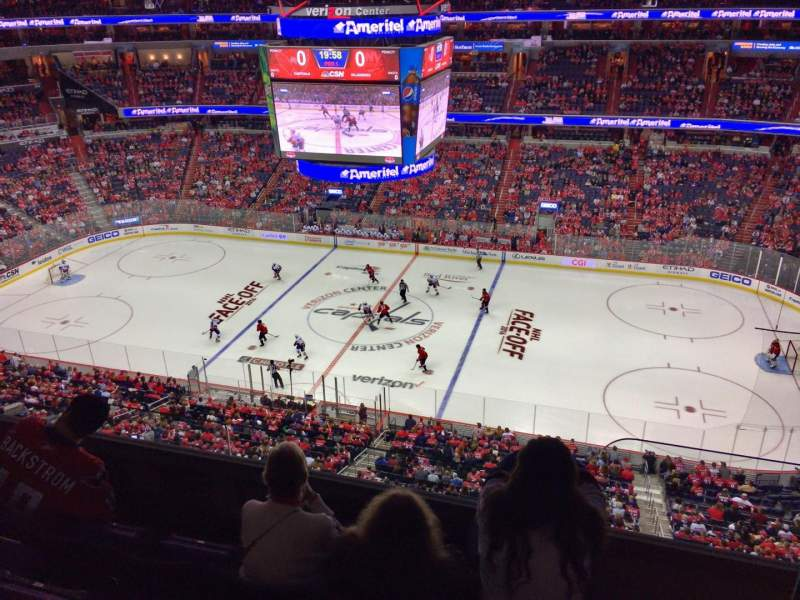Seating view for Verizon Center Section 419 Row D
