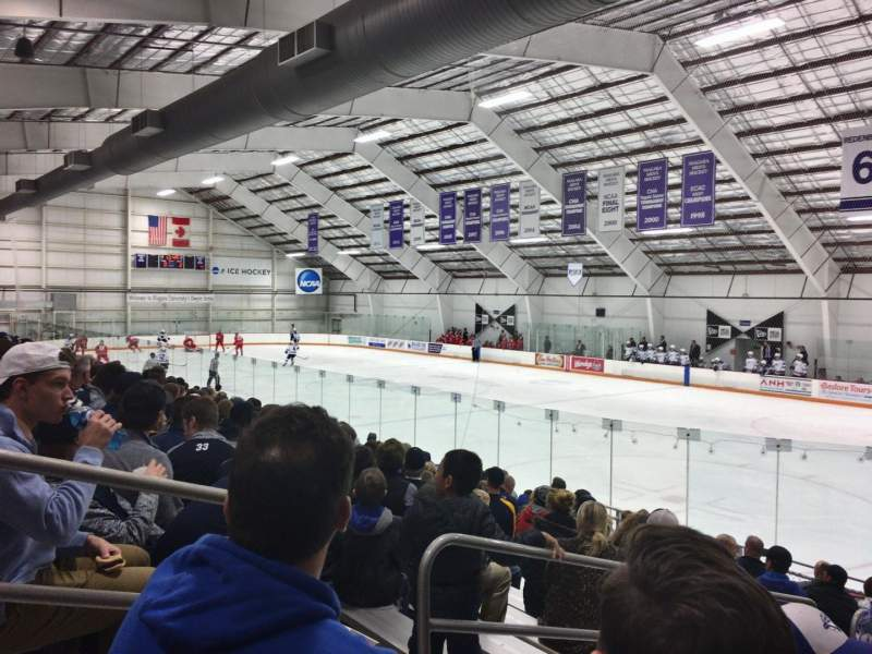 Seating view for Dwyer Arena Section 1 Row O Seat 2