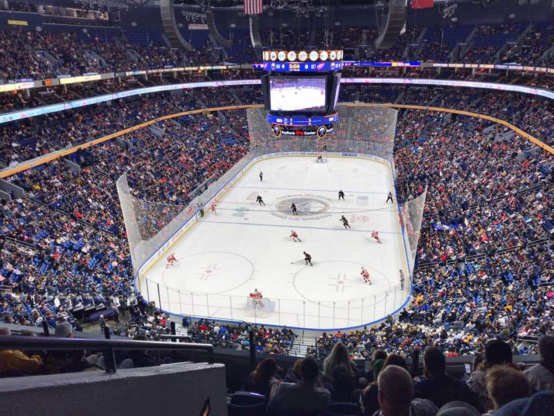 Seating view for KeyBank Center Section 312 Row 7 Seat 16