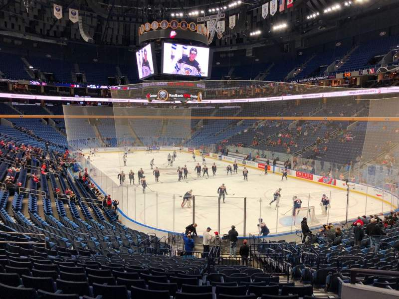 Seating view for KeyBank Center Section 113 Row 23 Seat 1