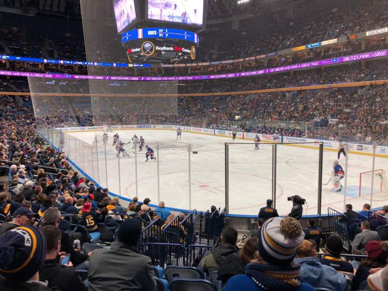 Seating view for KeyBank Center Section 113 Row 13 Seat 20