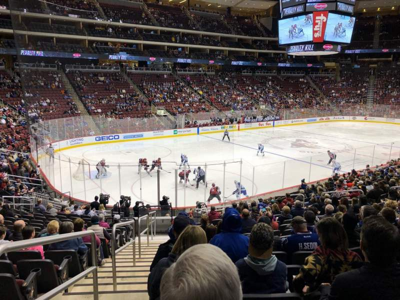 Seating view for Gila River Arena Section 114 Row S Seat 23