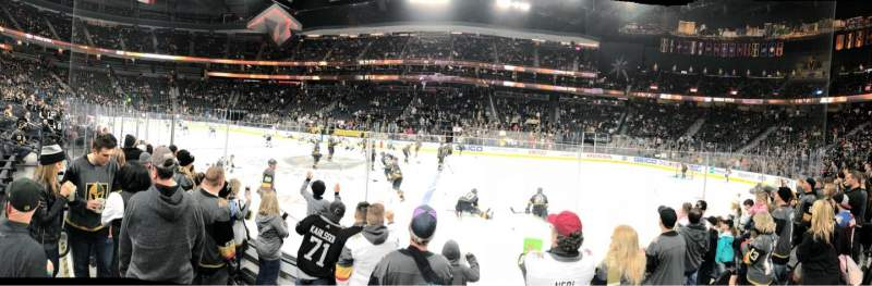 T-Mobile Arena, section: 16, row: DD, seat: 17