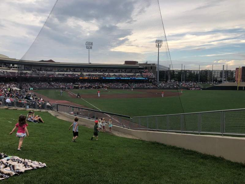 Seating view for Fifth Third Field (Dayton) Section Lawn Row A Seat 3