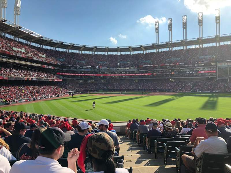 Seating view for Progressive Field Section 107 Row S Seat 1