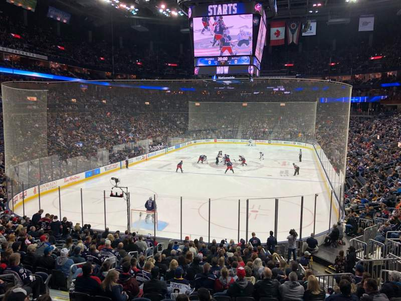 Seating view for Nationwide Arena Section 119 Row AAW Seat 9