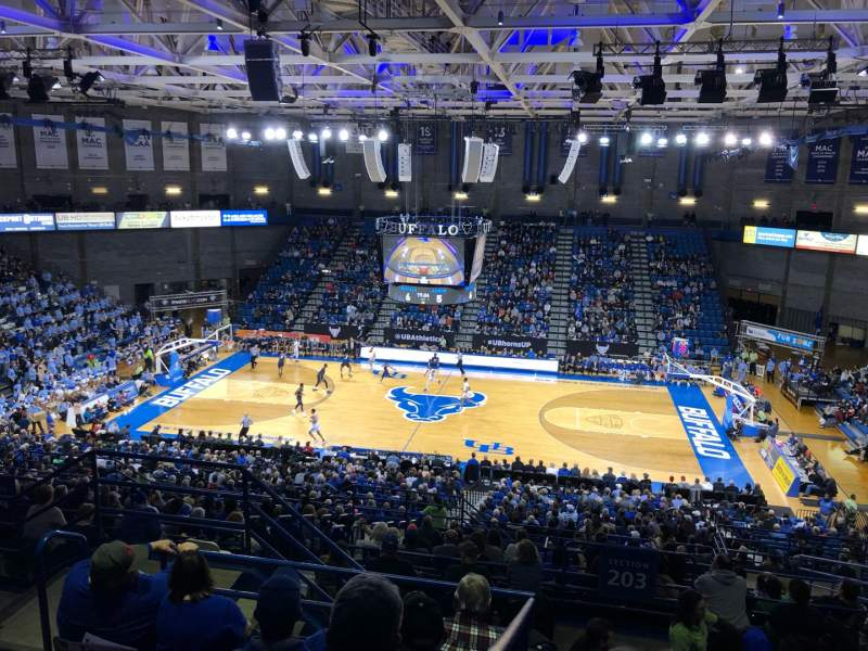 Seating view for Alumni Arena (University at Buffalo) Section 305 Row F Seat 9