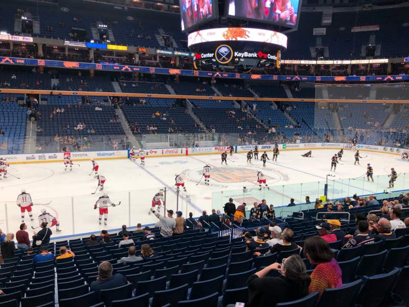 Seating view for KeyBank Center Section 106 Row 19 Seat 16