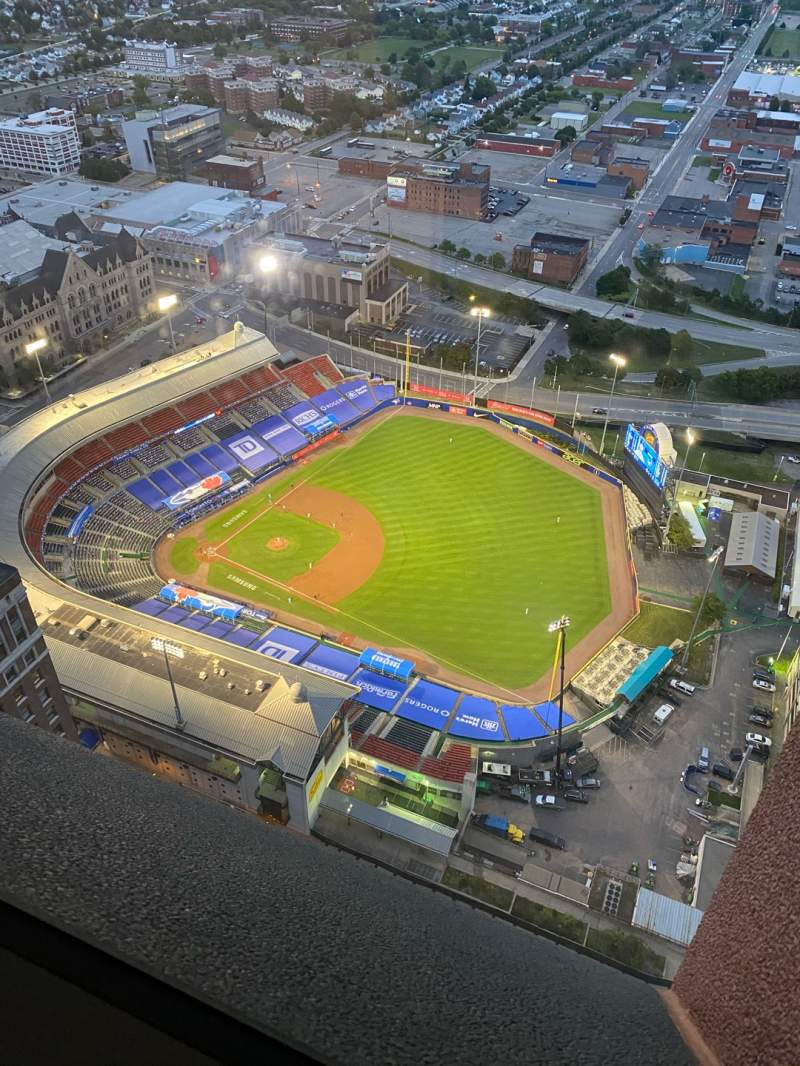 Seating view for Sahlen Field Section Seneca Row Tower Seat 36
