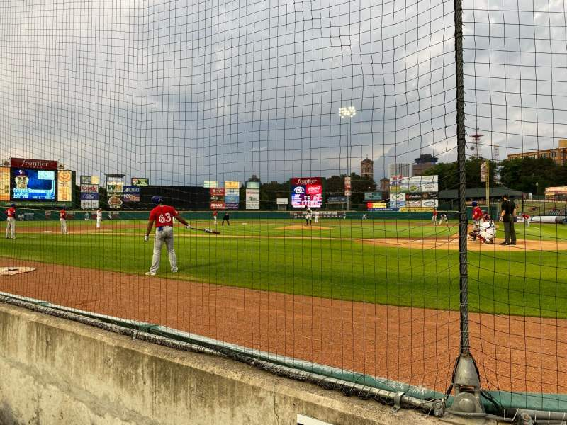 Seating view for Frontier Field Section 119 Row B Seat 4