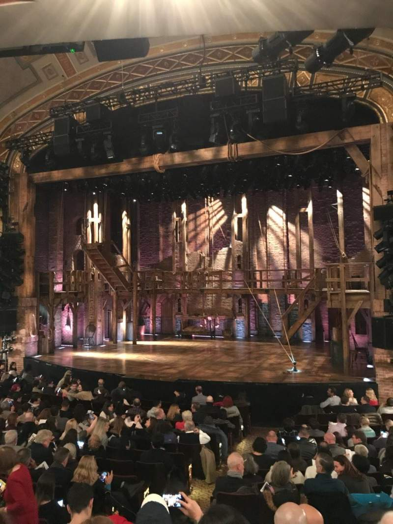 Seating view for Richard Rodgers Theatre Section Orchestra R Row P Seat 8-10
