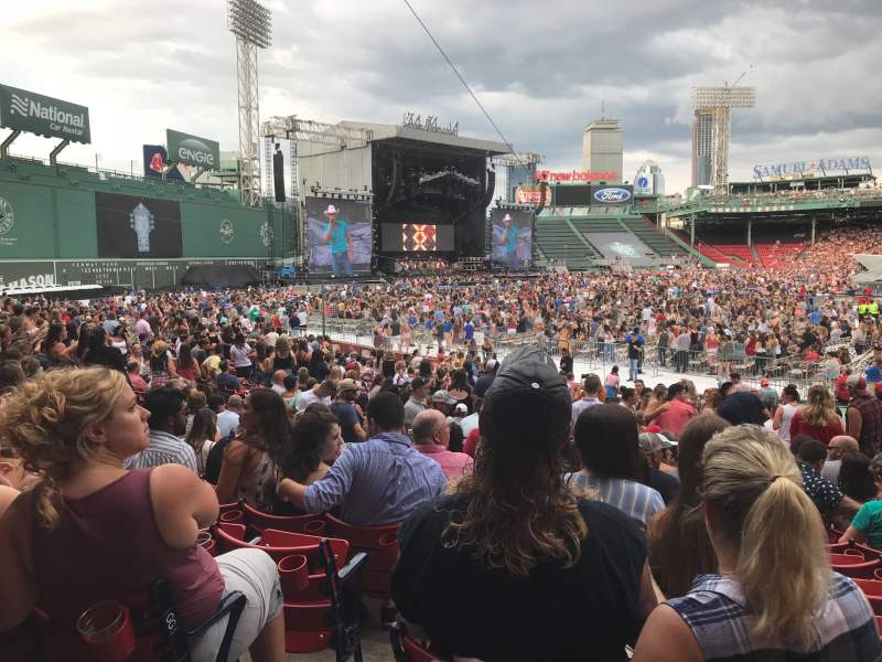 Seating view for Fenway Park Section LOGE BOX 154 Row HH Seat 4