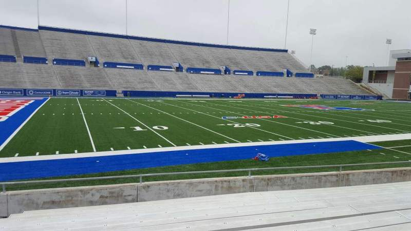 Seating view for Joe Aillet Stadium Section H Row 11 Seat 21