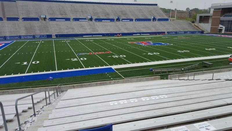 Seating view for Joe Aillet Stadium Section G Row 24 Seat 25
