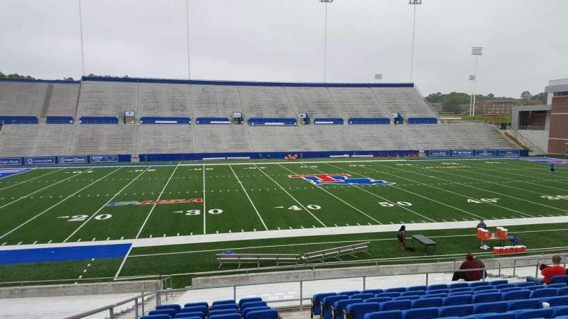 Seating view for Joe Aillet Stadium Section F Row L Seat 15