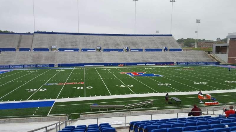 Joe Aillet Stadium, section: F, row: L, seat: 15