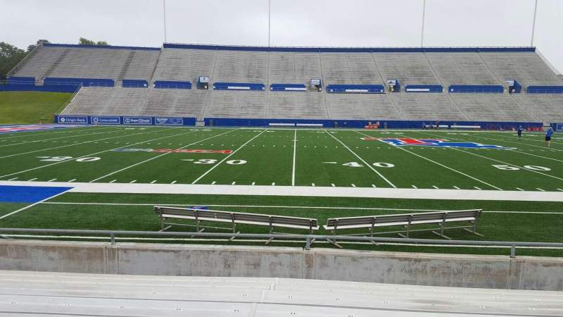Seating view for Joe Aillet Stadium Section F Row 9 Seat 13