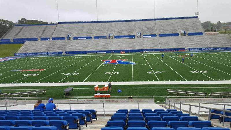 Seating view for Joe Aillet Stadium Section E Row K Seat 4