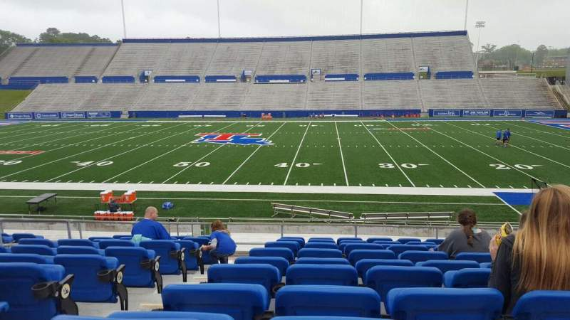 Seating view for Joe Aillet Stadium Section D Row K Seat 12