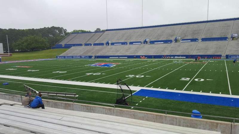 Seating view for Joe Aillet Stadium Section C Row 13 Seat 1