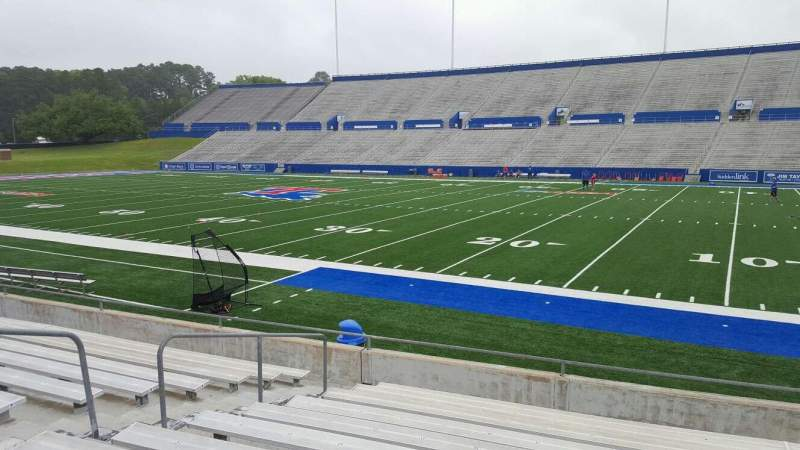Seating view for Joe Aillet Stadium Section B Row 12 Seat 17