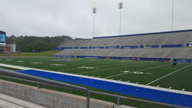 Seating view for Joe Aillet Stadium Section A Row 5 Seat 23