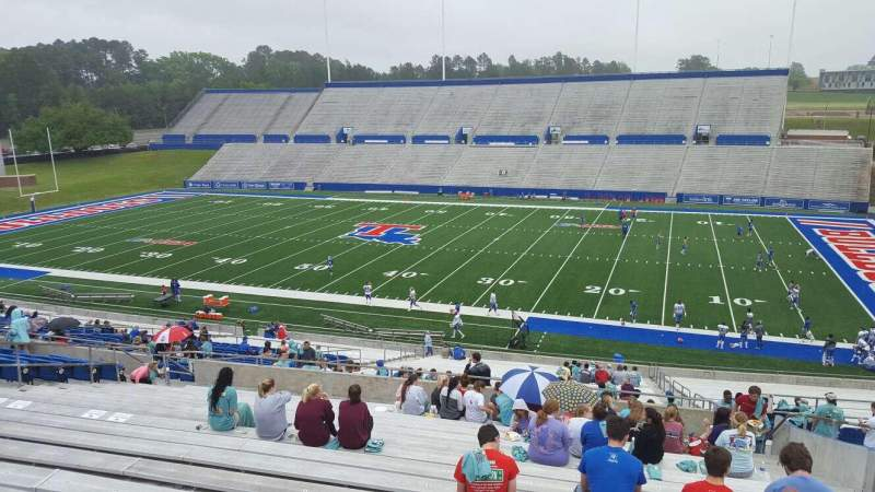 Seating view for Joe Aillet Stadium Section CC Row 41 Seat 6