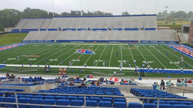 Seating view for Joe Aillet Stadium Section DD Row 41 Seat 9