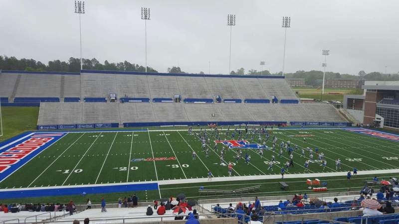 Seating view for Joe Aillet Stadium Section GG Row 41 Seat 9