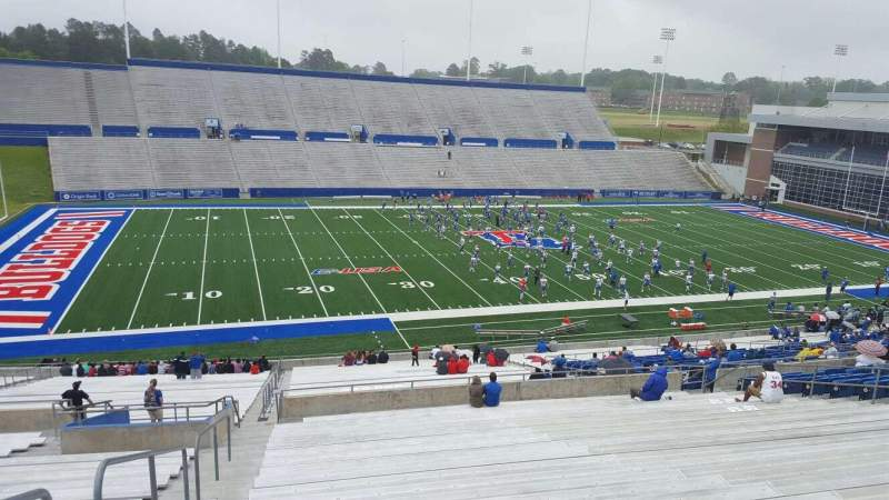 Seating view for Joe Aillet Stadium Section GG Row 46 Seat 28