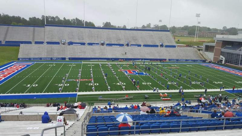 Seating view for Joe Aillet Stadium Section ff Row 46 Seat 28