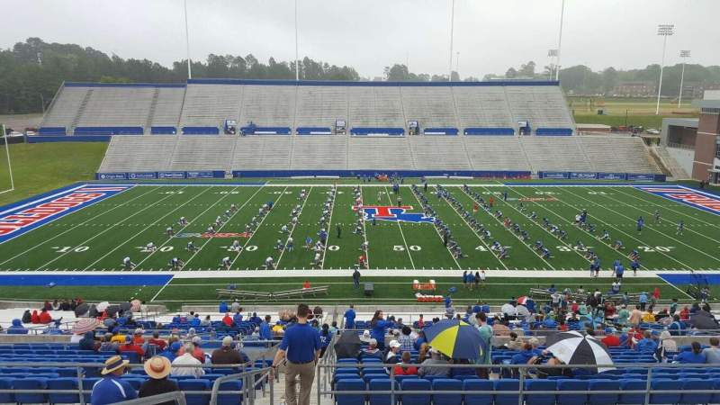 Seating view for Joe Aillet Stadium Section EE Row 46 Seat 29