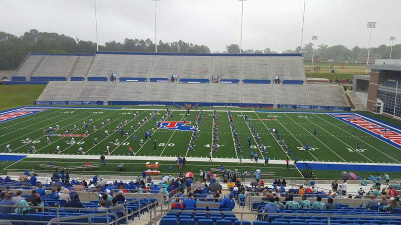 Seating view for Joe Aillet Stadium Section DD Row 46 Seat 25