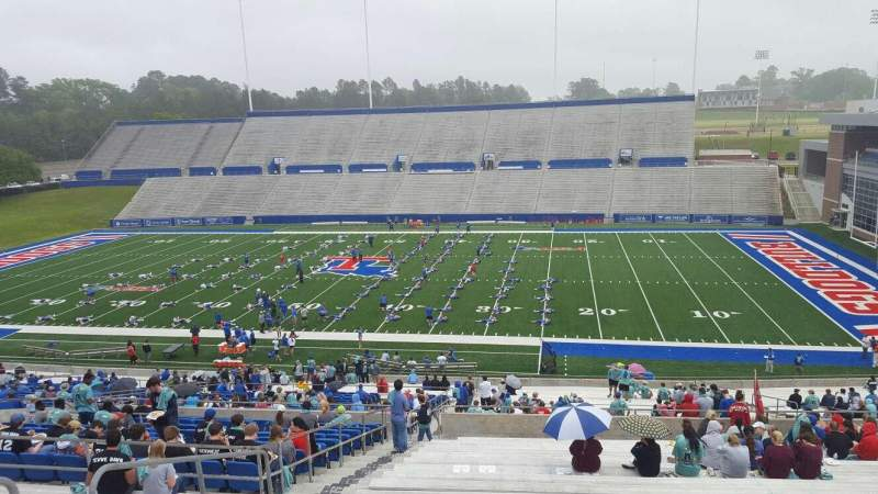 Seating view for Joe Aillet Stadium Section CC Row 46 Seat 23
