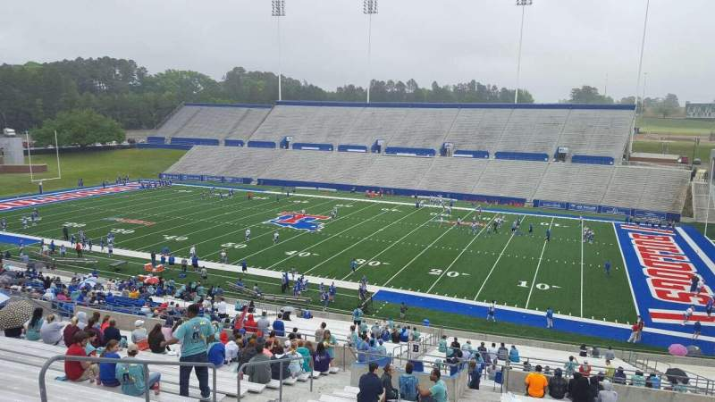 Seating view for Joe Aillet Stadium Section BB Row 46 Seat 21
