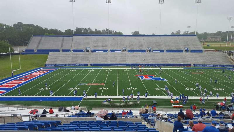 Seating view for Joe Aillet Stadium Section FF Row 41 Seat 12
